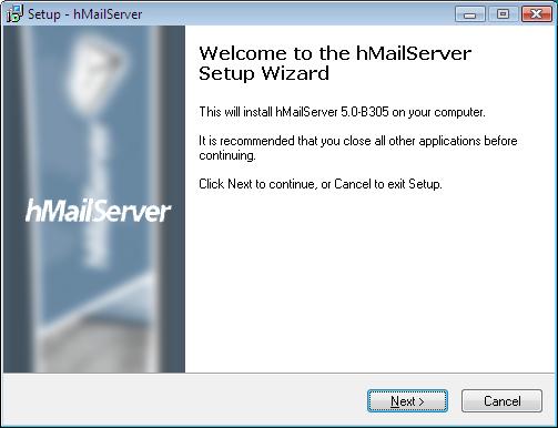 Installation tutorial - hMailServer - Free open source email server