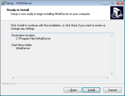 Installation tutorial - hMailServer - Free open source email