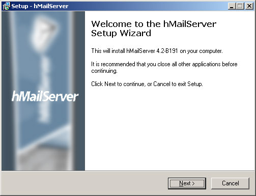 hMailServer full screenshot
